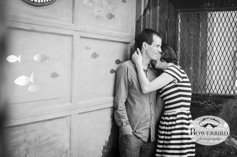 Mission murals. © Bowerbird Photography 2013; San Francisco Engagement Photo.