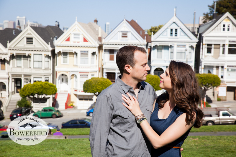 Classic SF. © Bowerbird Photography 2013; Alamo Square, San Francisco Engagement Photo.