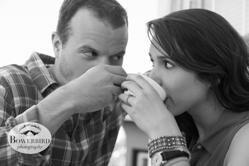 © Bowerbird Photography 2013; A Coffee Date, San Francisco Engagement Photo.