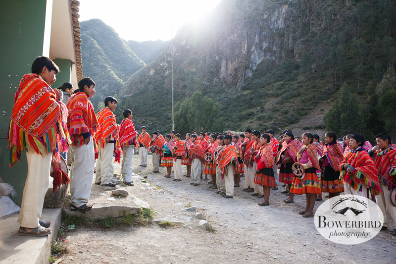 Morning assembly. © Bowerbird Photography 2013, Sacred Valley Health and Suny Brockport in Huilloc, Peru.