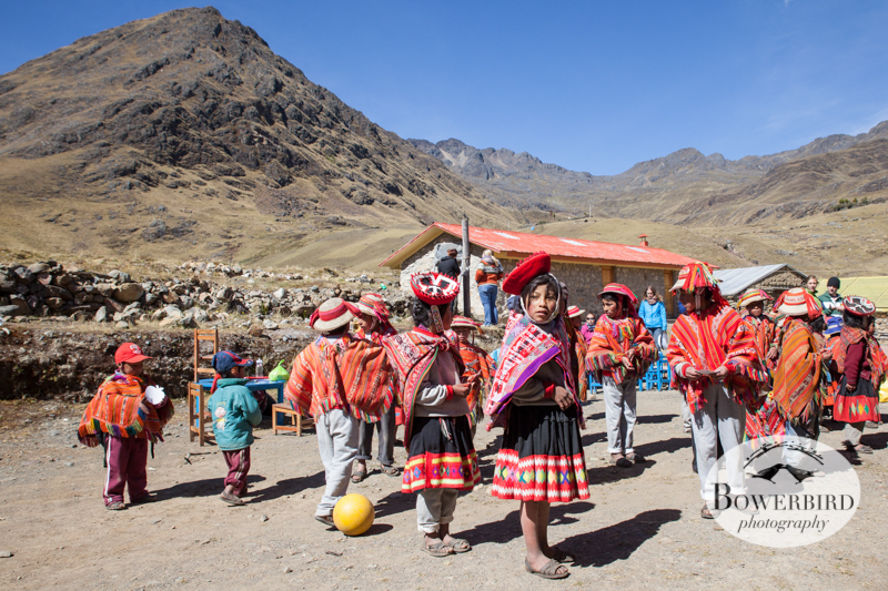 The remote village of Yanamayo is surrounded by breathtaking scenery, and the school sits under a ridge of mountains. © Bowerbird Photography 2013, Sacred Valley Health and Suny Brockport in Yanamayo, Peru.