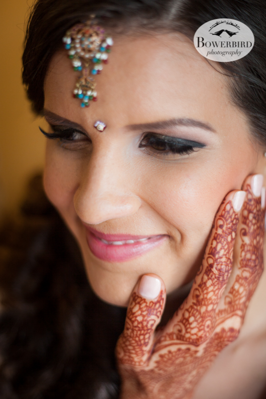The beautiful bride! © Bowerbird Photography 2013, South Asian Wedding at the San Francisco JW Marriott and Winery SF on Treasure Island.