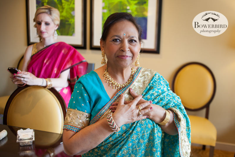 The groom's mom couldn't be happier! © Bowerbird Photography 2013, South Asian Wedding at the San Francisco JW Marriott and Winery SF on Treasure Island.