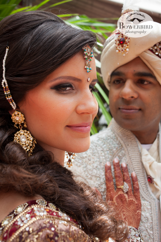 They look so great together!   © Bowerbird Photography 2013, First Look, South Asian Wedding at the San Francisco JW Marriott and Winery SF on Treasure Island.