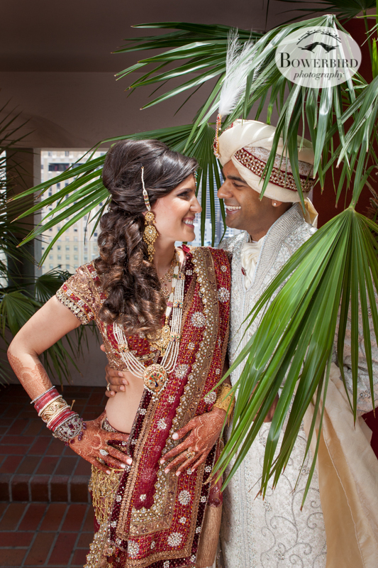 So happy! © Bowerbird Photography 2013, First Look, South Asian Wedding at the San Francisco JW Marriott and Winery SF on Treasure Island.