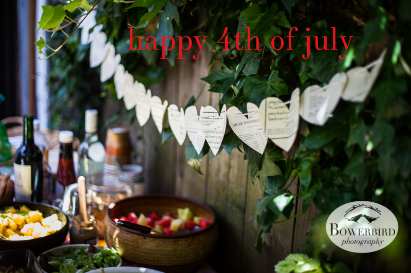 A photo from last year's 4th of July picnic in our backyard. © Bowerbird Photography 2013, Fourth of July Picnic