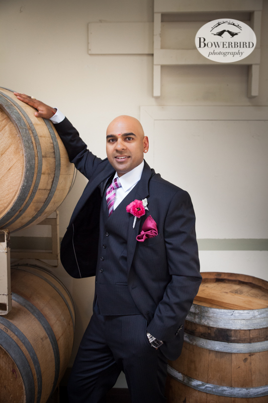The groom looking very dapper! © Bowerbird Photography 2013, Wedding at the San Francisco Winery SF on Treasure Island.