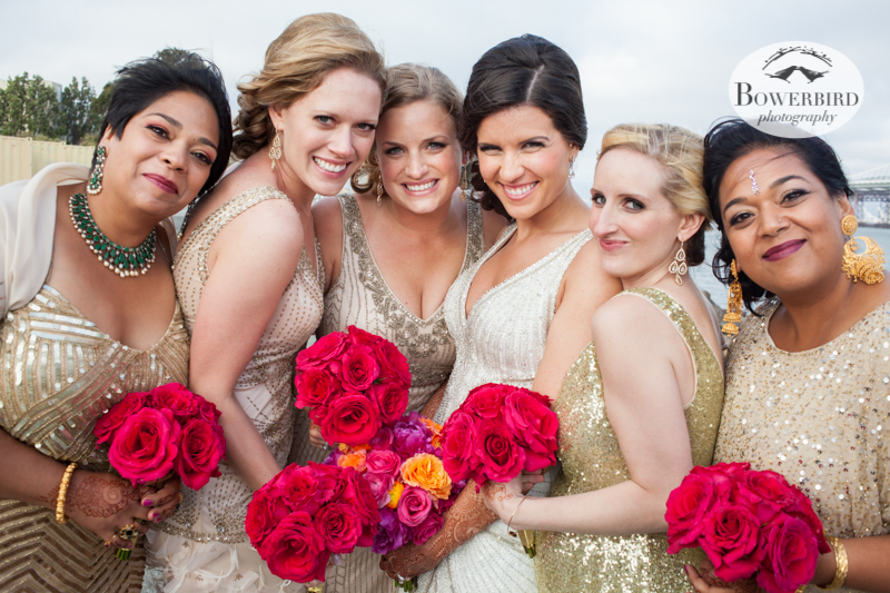 Las chicas bonitas! © Bowerbird Photography 2013, Wedding at the San Francisco Winery SF on Treasure Island.