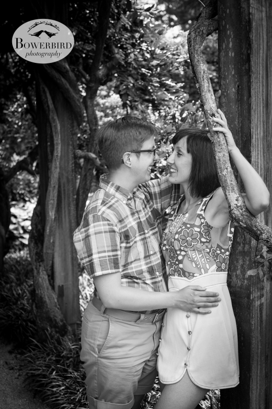 In love! © Bowerbird Photography 2013, anniversary photos, LGBTQ couples photo session in Longwood Gardens, Pennsylvania.