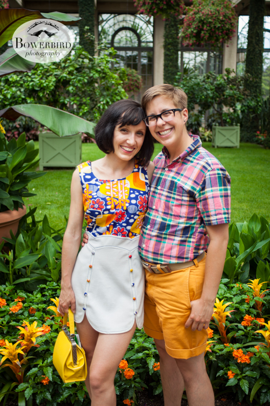 Love this one. © Bowerbird Photography 2013, anniversary photos, LGBTQ couples photo session in Longwood Gardens, Pennsylvania.