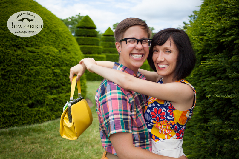 Fashion models ♥ © Bowerbird Photography 2013, LGBTQ couples photo session in Longwood Gardens, Pennsylvania.