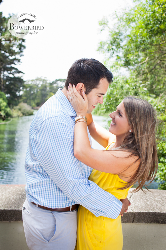 Too cute :) © Bowerbird Photography 2013, San Francisco Engagement Photo at Stow Lake in Golden Gate Park.