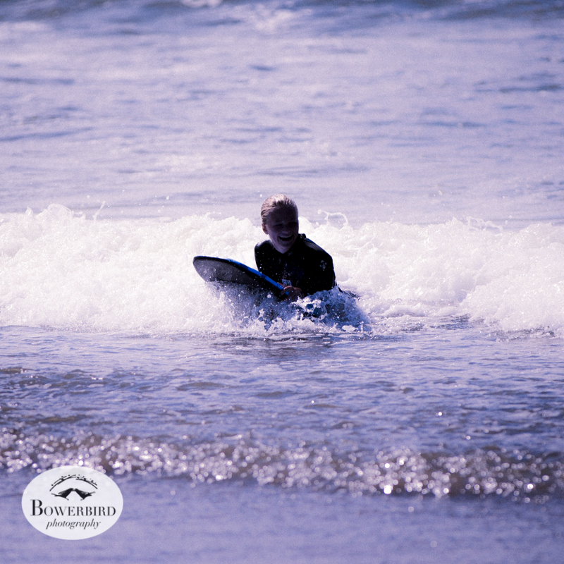 Surfer at Linda Mar Beach, Pacifica. © Bowerbird Photography 2013.