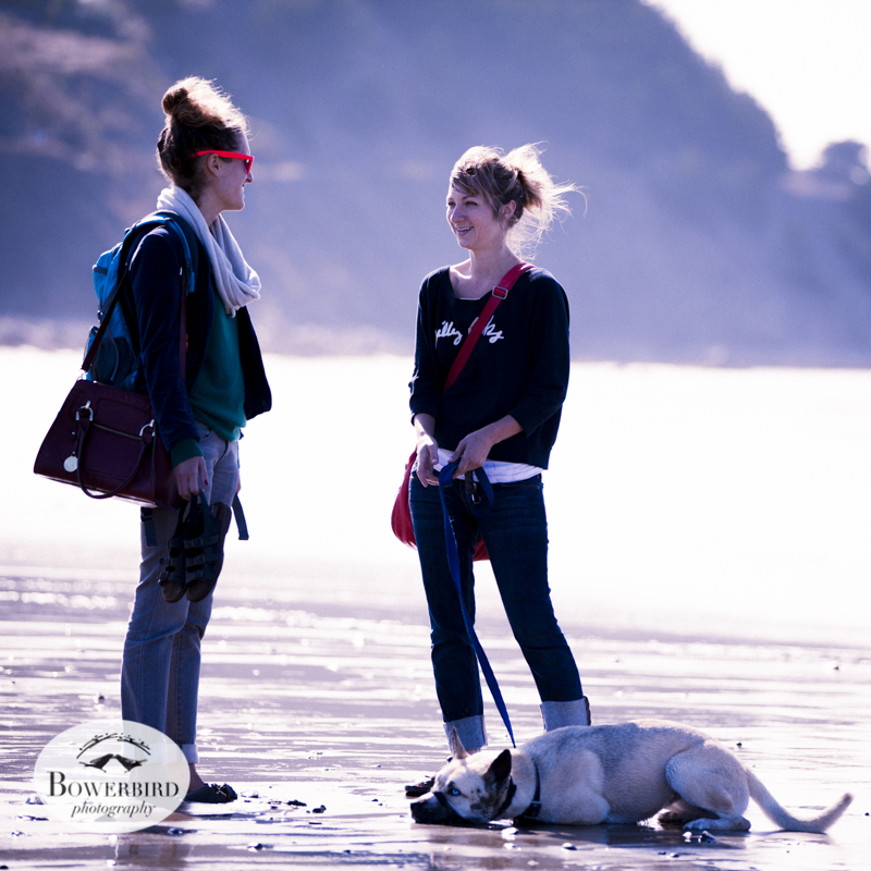 Ariel with Suzanne + Noe on Linda Mar Beach, Pacifica. © Bowerbird Photography 2013.