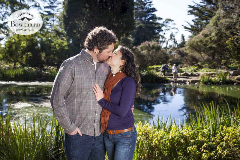 San Francisco Engagement Photo Session in Golden Gate Park at Stow Lake. © Bowerbird Photography, 2013.