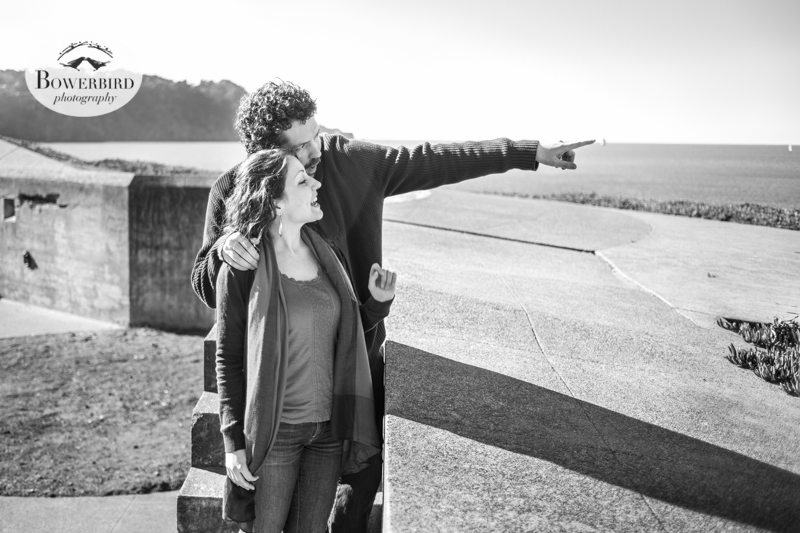 San Francisco Engagement Photo Session at Baker Beach. © Bowerbird Photography, 2013.