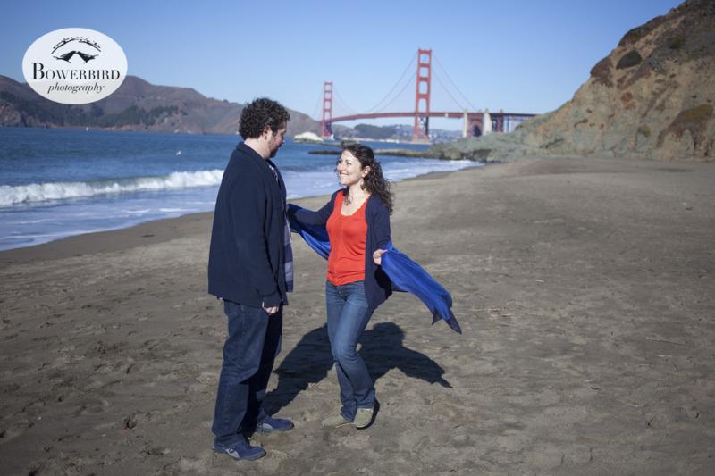 San Francisco Engagement Photo Session at Baker Beach.© Bowerbird Photography, 2013.