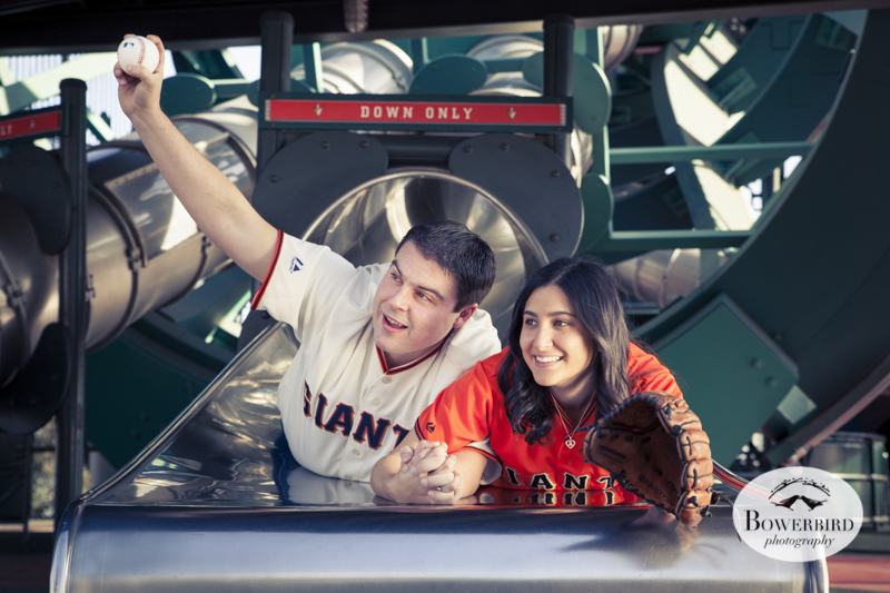 Engagement Photo Session at AT&T Park. © Bowerbird Photography, 2013.