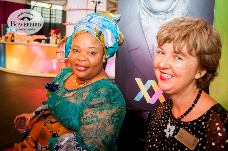 Nobel Peace Laureate Leymah Gbowee and Author Jane Sloane. The Global Fund for Women's 25th Anniversary Gala. © Bowerbird Photography, 2014.