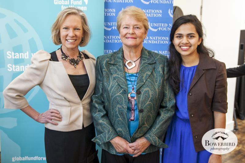 Kathy Calvin, Dr. Gro Harlem Brundtland and Riya Singh.© Bowerbird Photography, 2014