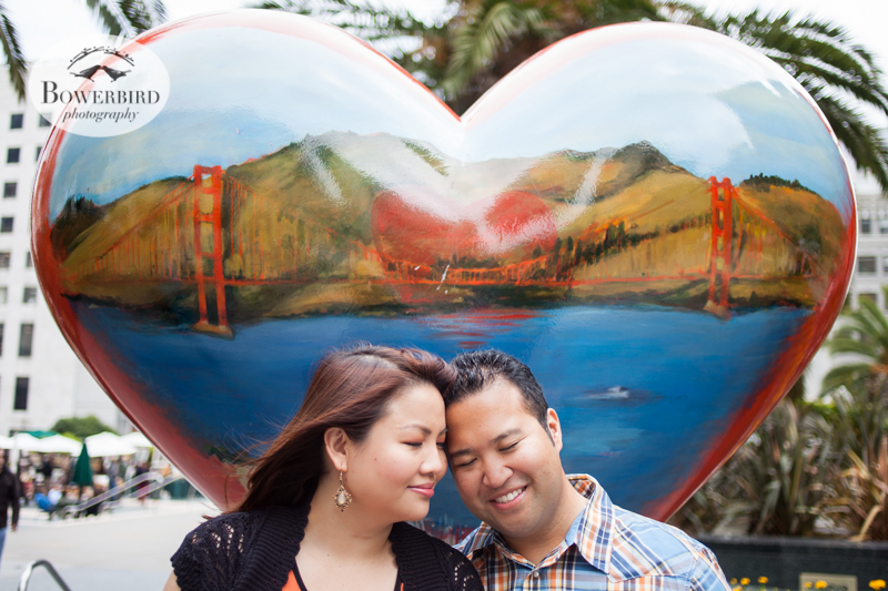 San Francisco Engagement Photo Session in Union Square. © Bowerbird Photography, 2014