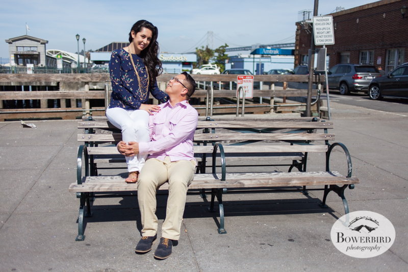 San Francisco Engagement Photo Session at the Ferry Building. © Bowerbird Photography, 2014