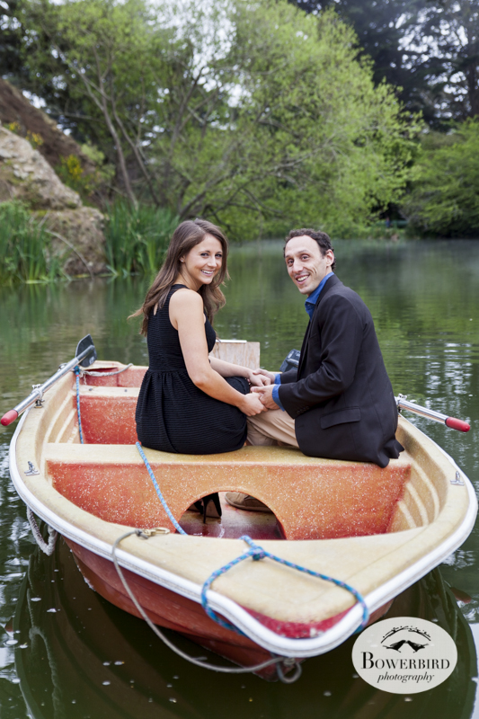 San Francisco's Couple's Photo Session at Stow Lake. © Bowerbird Photography, 2014