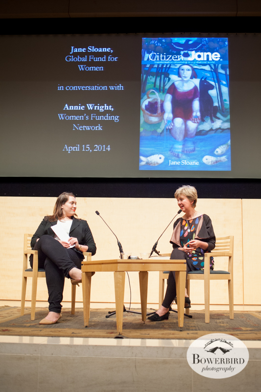 Author Jane Sloane at her Citizen Jane book launch. San Francisco Public Library. © Bowerbird Photography, 2014