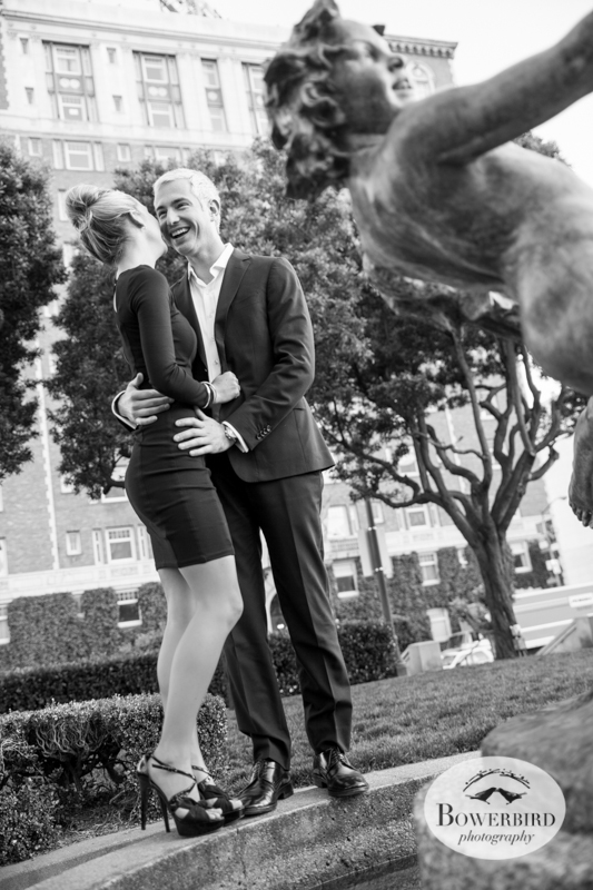 San Francisco Engagement Photo Session on Nob Hill. © Bowerbird Photography, 2014