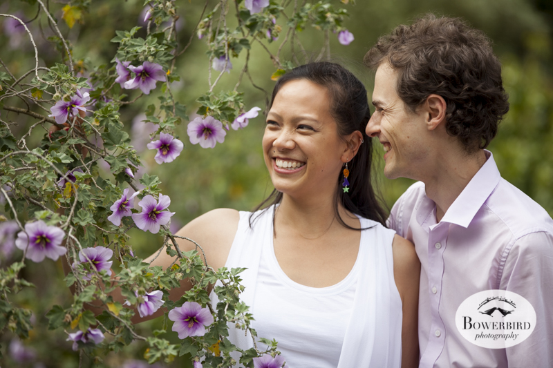 San Francisco Engagement Photo Session at the Botanical Gardens in Golden Gate Park. © Bowerbird Photography, 2014