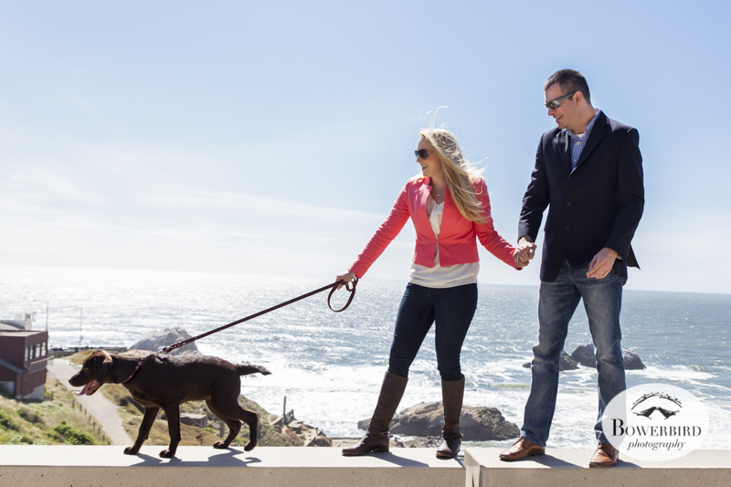 San Francisco Engagement Photo Session   at Lands End and Sutro Baths.   © Bowerbird Photography, 2014
