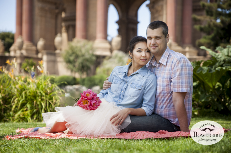 San Francisco Engagement Photo Session at the Palace of Fine Arts. © Bowerbird Photography, 2014
