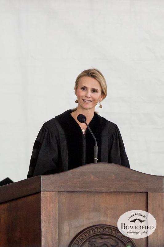 Keynote speaker Jennifer Siebel Newsom atDominican University of California graduation ceremony.© Bowerbird Photography, 2014