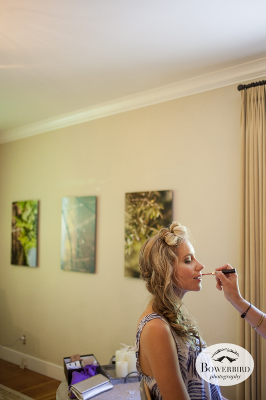 Making these lips perfect for the first kiss! (Kunde Family Estate Wedding Photography in Kenwood. © Bowerbird Photography 2014)
