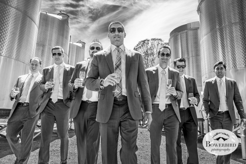 The guys have Jon's back! (Kunde Family Estate Wedding Photography in Kenwood. © Bowerbird Photography 2014)
