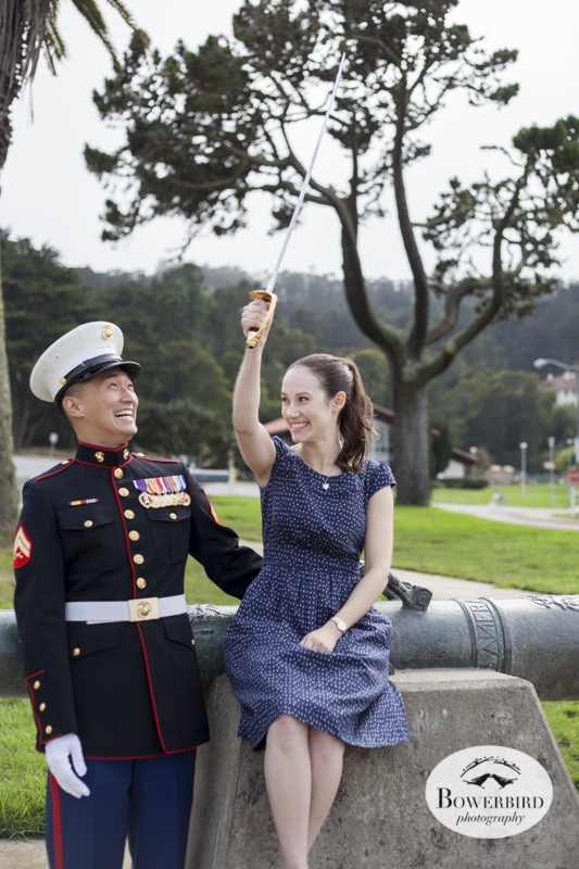 San Francisco Engagement Photo Session in the Presidio. © Bowerbird Photography 2014