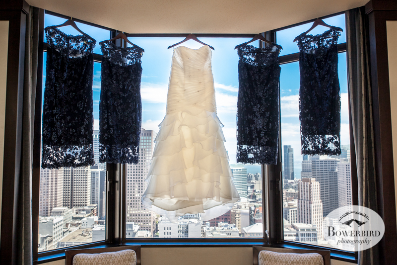 In the bridal suite at the Westin St. Francis.  © Bowerbird Photography 2014