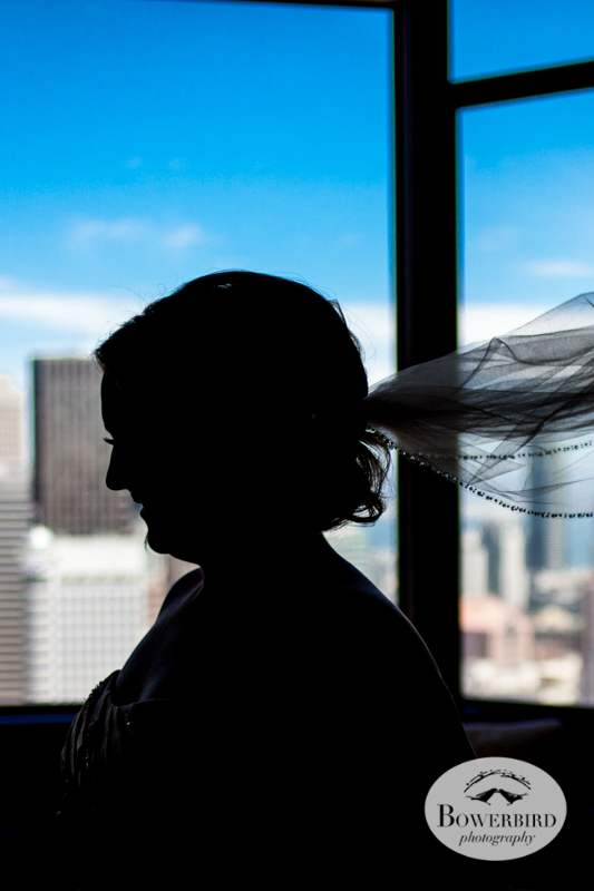 The bride in her veil. Westin St. Francis © Bowerbird Photography 2014