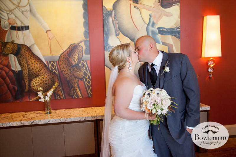First Look. Westin St. Francis Hotel SF Wedding © 2014 Bowerbird Photography