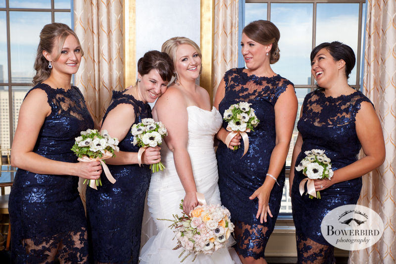 Bridesmaids. Westin St. Francis Hotel SF Wedding © 2014 Bowerbird Photography
