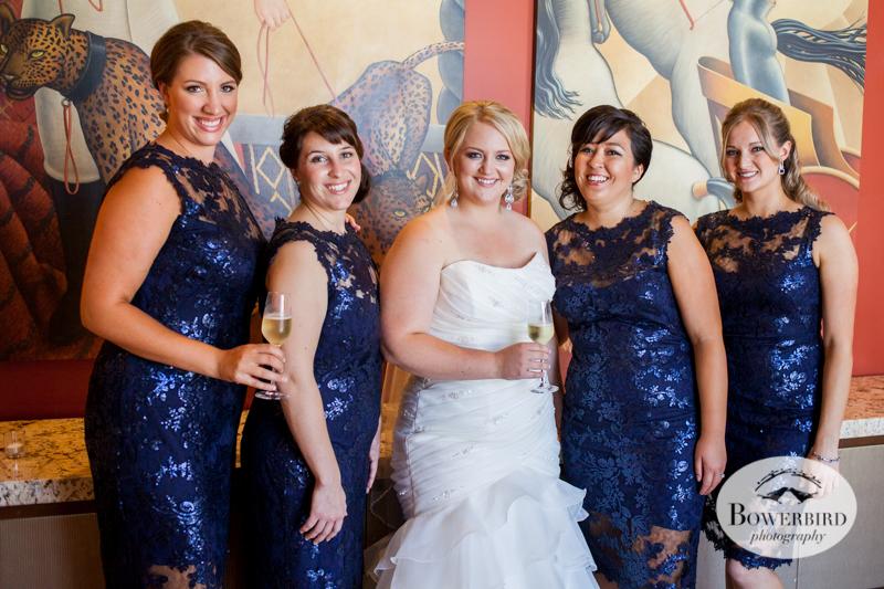 Bridesmaids at cocktail hour. Westin St. Francis wedding. © Bowerbird Photography 2014