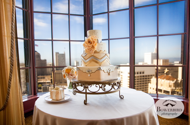 Wedding Cake by Elegant Cheesecakes. Westin St. Francis Hotel © Bowerbird Photography 2014