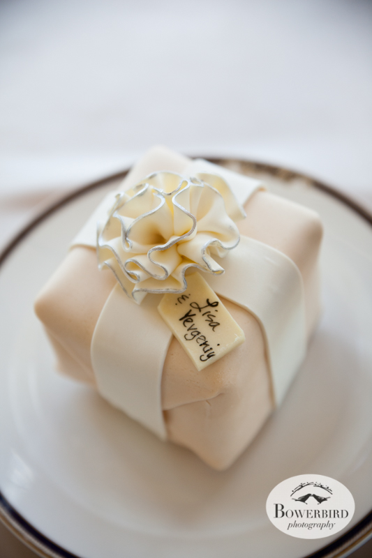 This wedding cake has their name on it! Cake by Elegant Cheesecakes © Bowerbird Photography 2014
