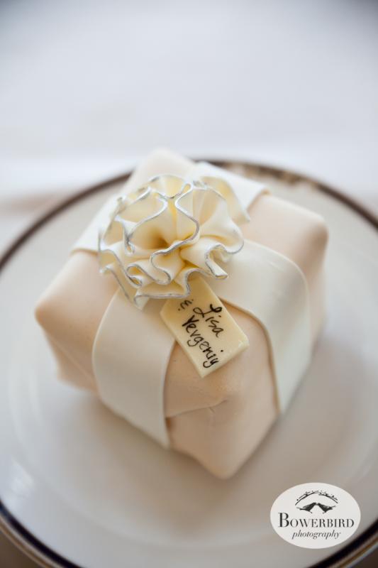 This wedding cake has their name on it! Cake by Elegant Cheesecakes© Bowerbird Photography 2014