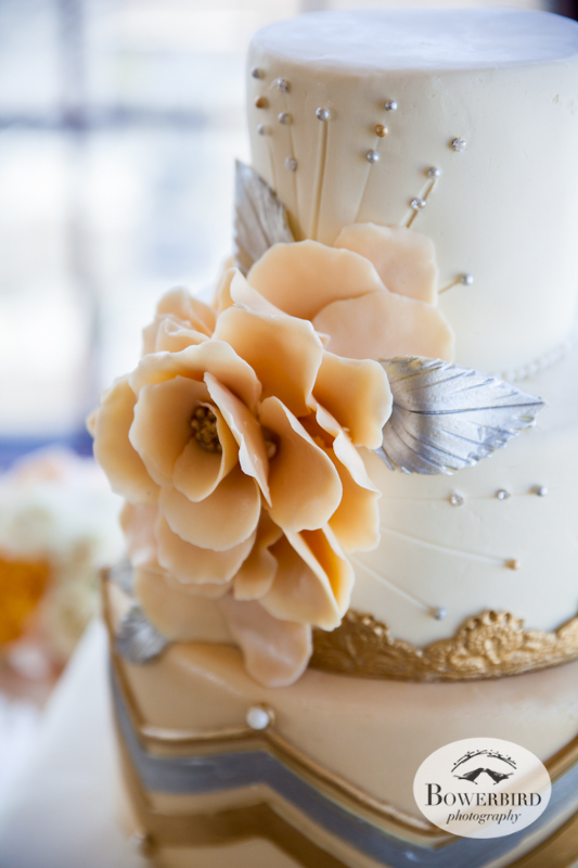 Love the art deco flourishes! Decorated by Elegant Cheesecakes.© Bowerbird Photography 2014
