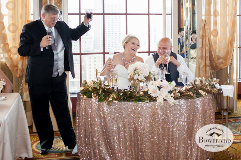A toast from the father of the bride :) © Bowerbird Photography 2014