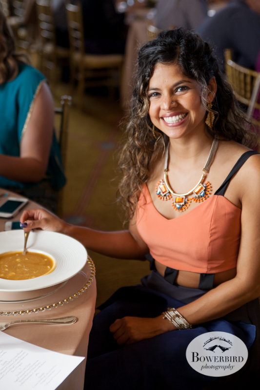 Enjoying the soup course. © Bowerbird Photography 2014