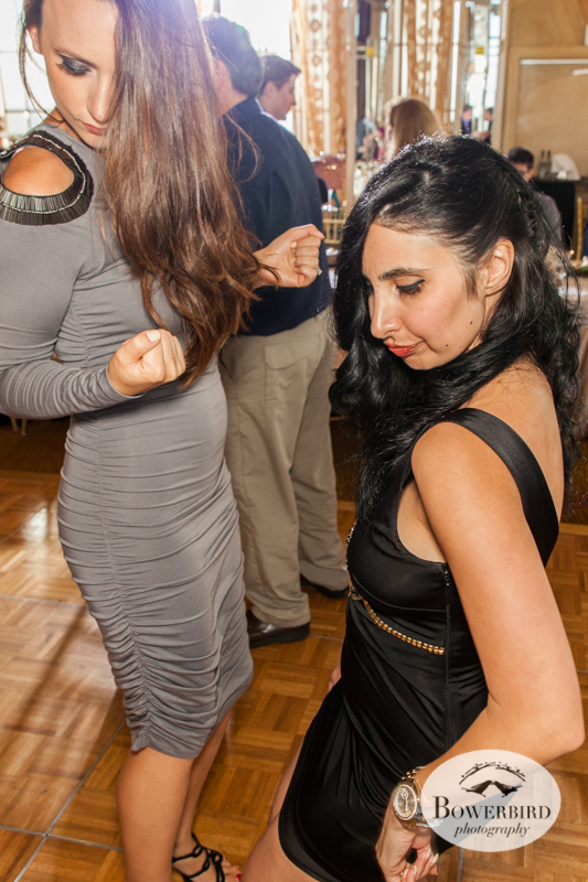 Guests get into it on the dance floor. Westin St. Francis wedding © Bowerbird Photography 2014