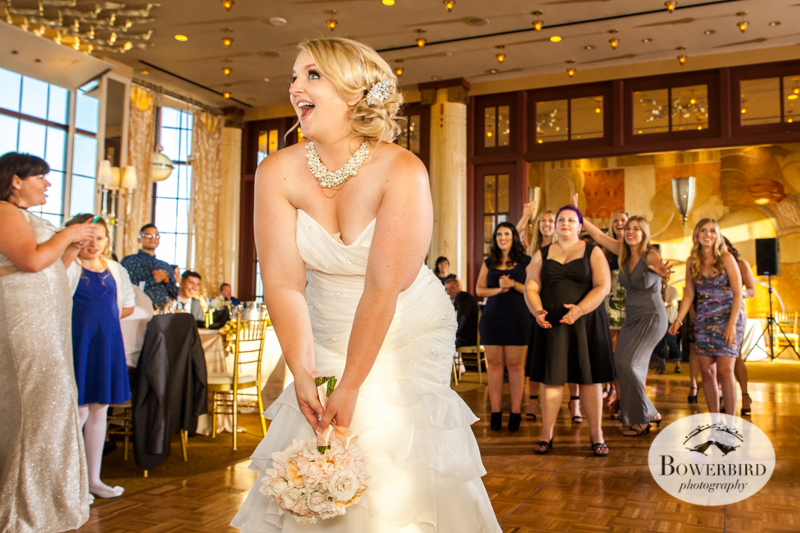 The bouquet toss! Westin St. Francis Hotel Wedding in San Francisco © Bowerbird Photography 2014