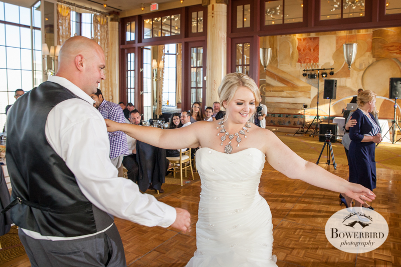 The bride has some moves! St. Francis hotel. © Bowerbird Photography 2014